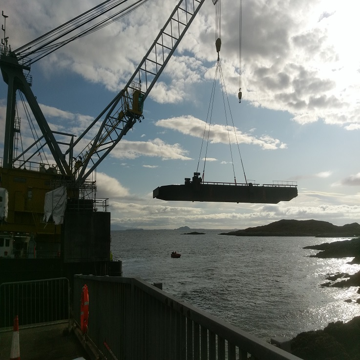 Replacing two linkspans in remote Scotland